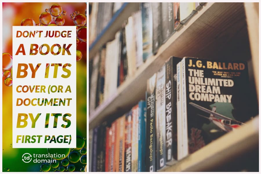 thumbnail stating not to judge a document by its cover